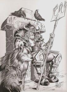 dibujos de vikingos animados odin