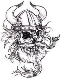 dibujos de vikingos fáciles odin