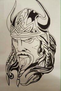 dibujos de vikingos guerreros odin