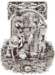 dibujos de vikingos para colorear e imprimir odin