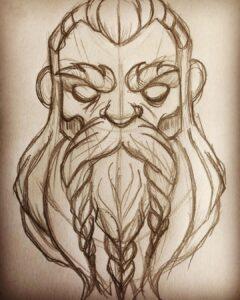 dibujos de vikingos para colorear odin