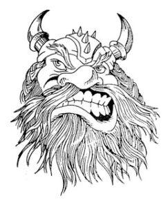 dibujos de vikingos para tatuar odin