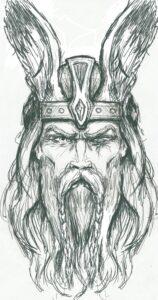 dibujos de vikingos realistas odin
