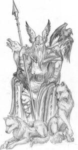 dibujos de vikingos serie odin