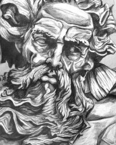 dibujos de zeus a lapiz