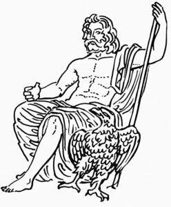 dibujos de zeus dios