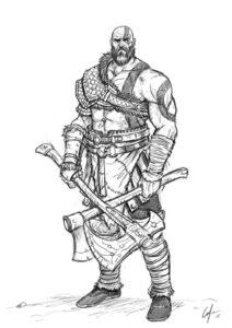 god of war para dibujar
