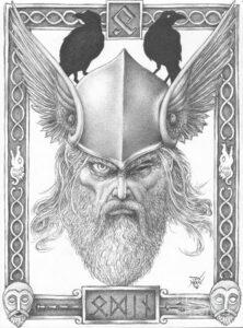 imagenes de dibujos de vikingos odin