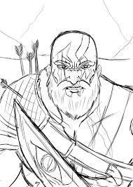 imagenes de kratos para dibujar a lapiz