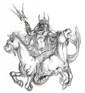 imagenes de poseidon dios del mar