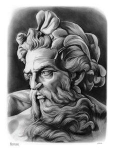 imagenes de poseidon dios del mar para dibujar