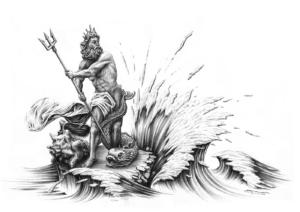 imagenes de poseidon en caricatura