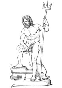 imagenes de poseidon para dibujar faciles