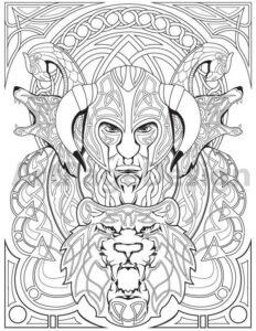 serie de dibujos animados vikingos odin